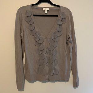 [LOFT] Women's gray patterned sweater cardigan